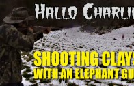 'Hallo Charlie!' – shooting clays with an elephant gun