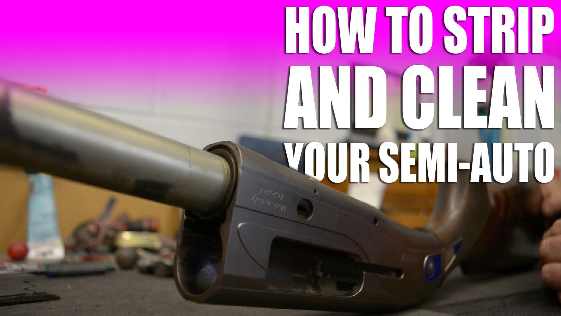 How To Strip And Clean A Beretta Semi Auto Fieldsports