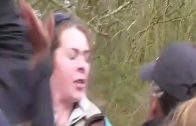 Warning: violent sweary antis attack hunt supporter
