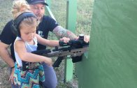 Howls from antis as four year-old learns to shoot