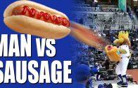 Man vs Sausage – air powered hot dog detaches retina