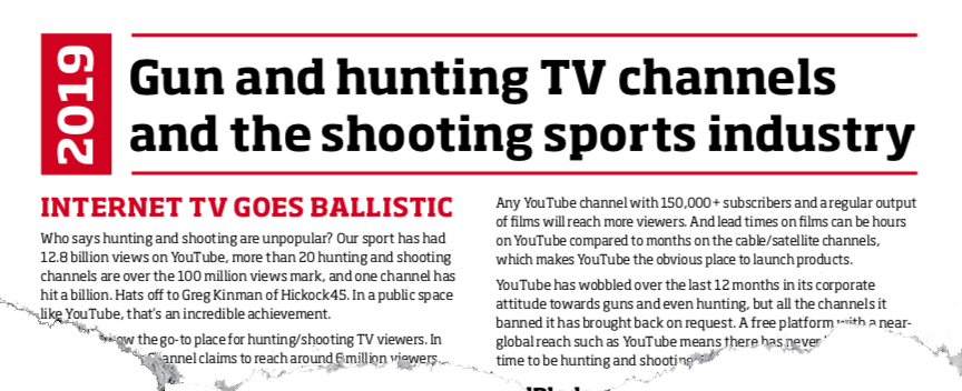 Hunting TV 2019: the viewing revolution